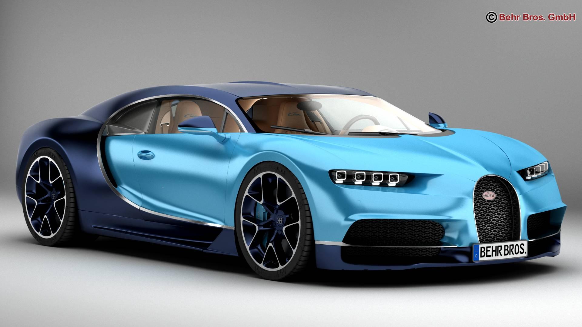 bugatti chiron 2017 3d model 3ds max fbx c4d lwo ma mb obj 222107