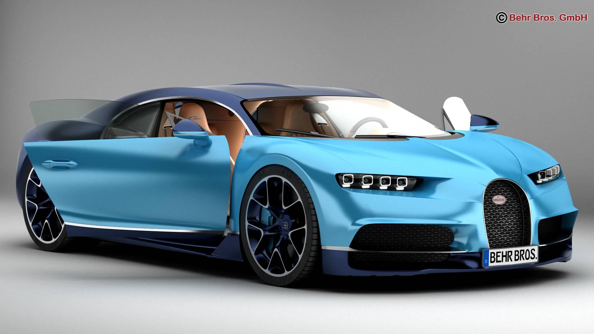 bugatti chiron 2017 3d model 3ds max fbx c4d lwo ma mb obj 222108