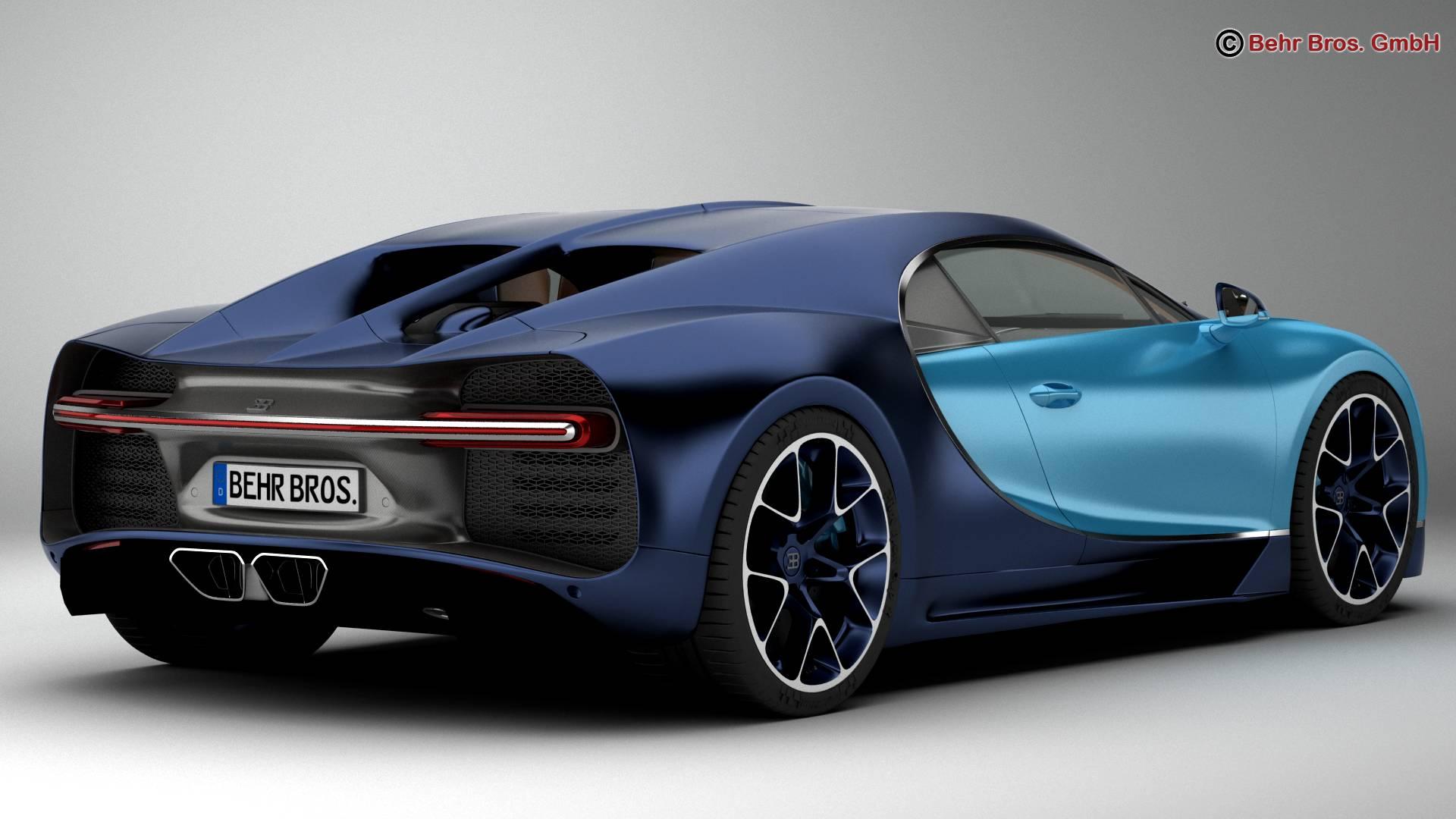 bugatti chiron 2017 3d model 3ds max fbx c4d lwo ma mb obj 222109