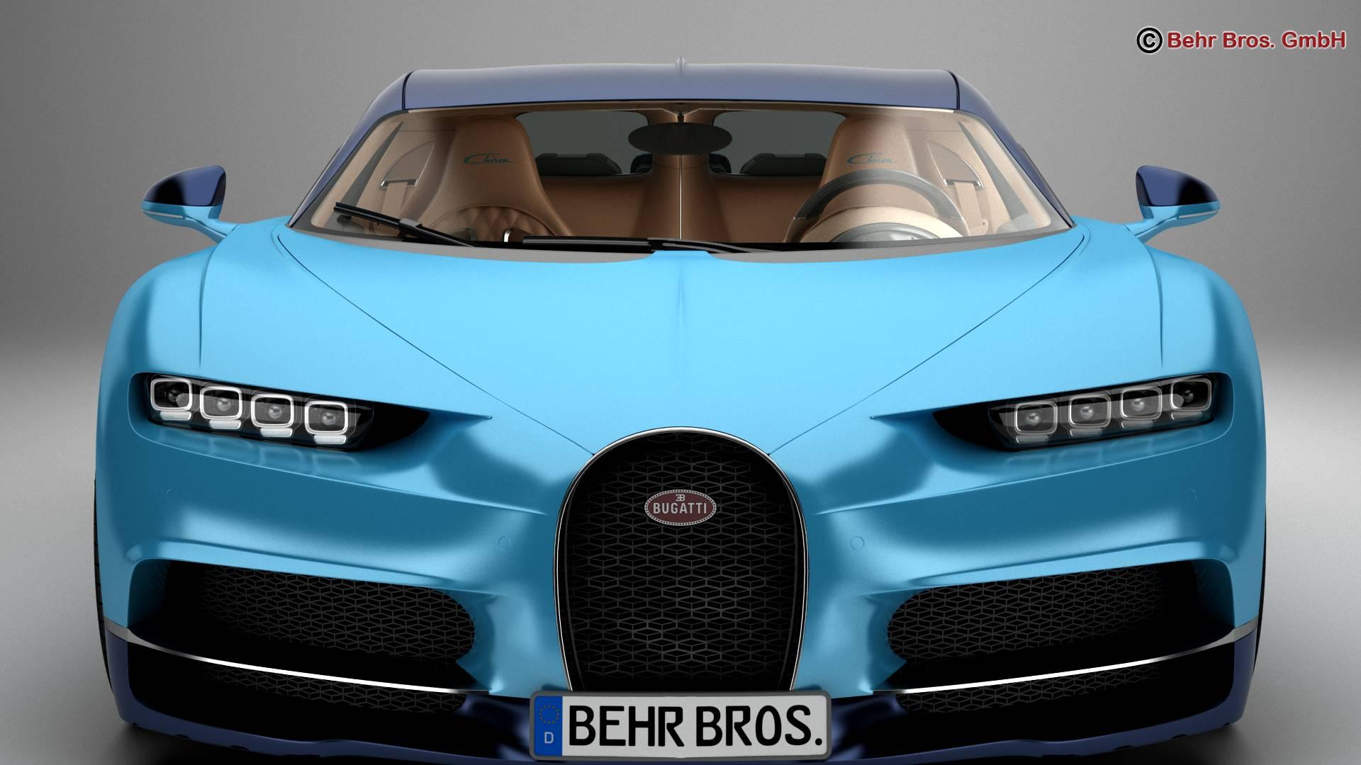 bugatti chiron 2017 3d model 3ds max fbx c4d lwo ma mb obj 222112
