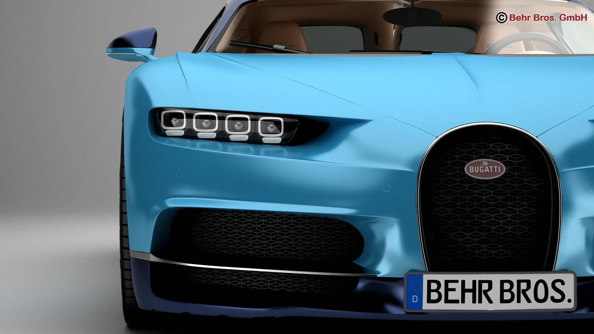 bugatti chiron 2017 3d model 3ds max fbx c4d lwo ma mb obj 222113