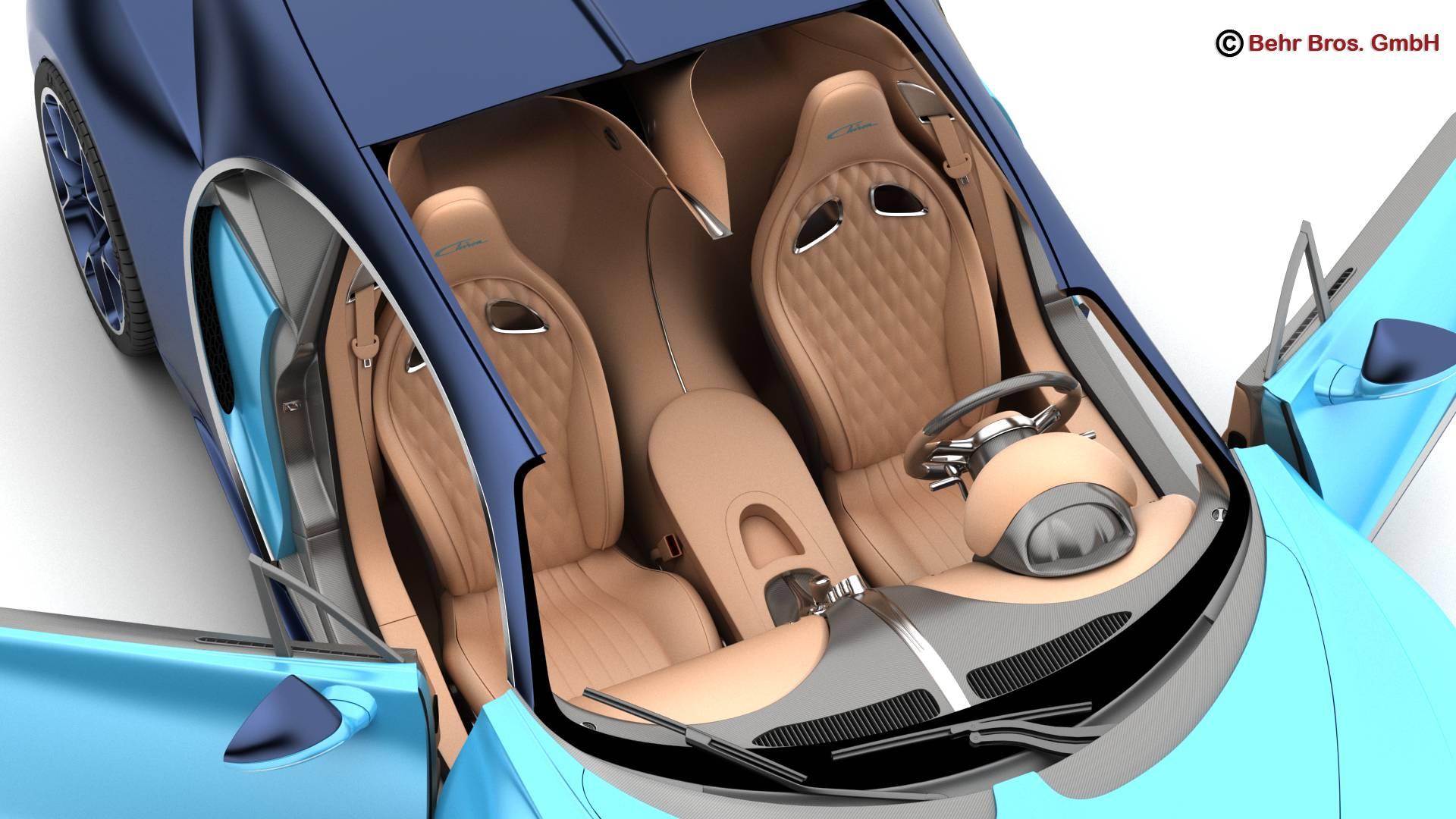 bugatti chiron 2017 3d model 3ds max fbx c4d lwo ma mb obj 222117