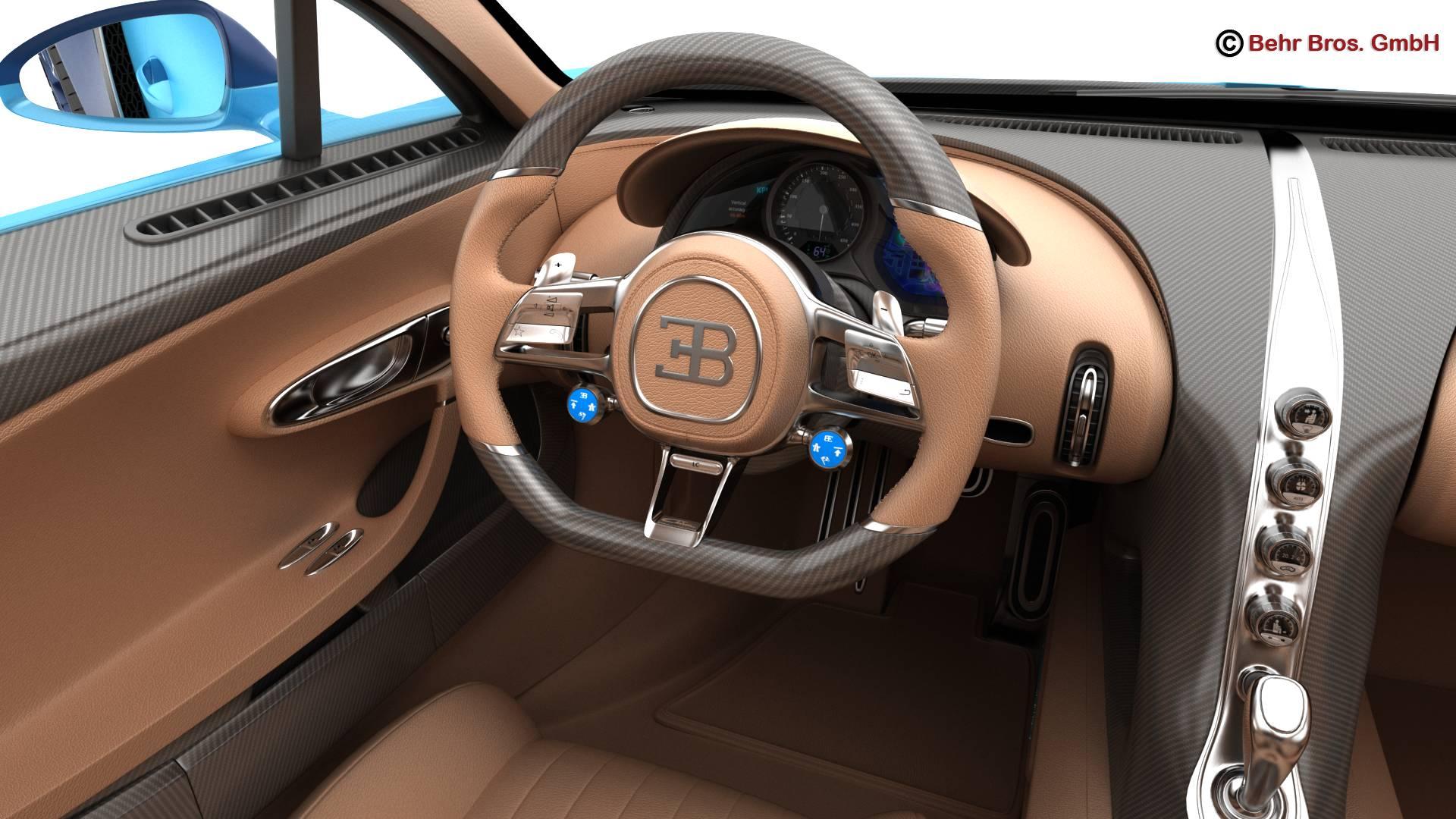 bugatti chiron 2017 3d model 3ds max fbx c4d lwo ma mb obj 222120