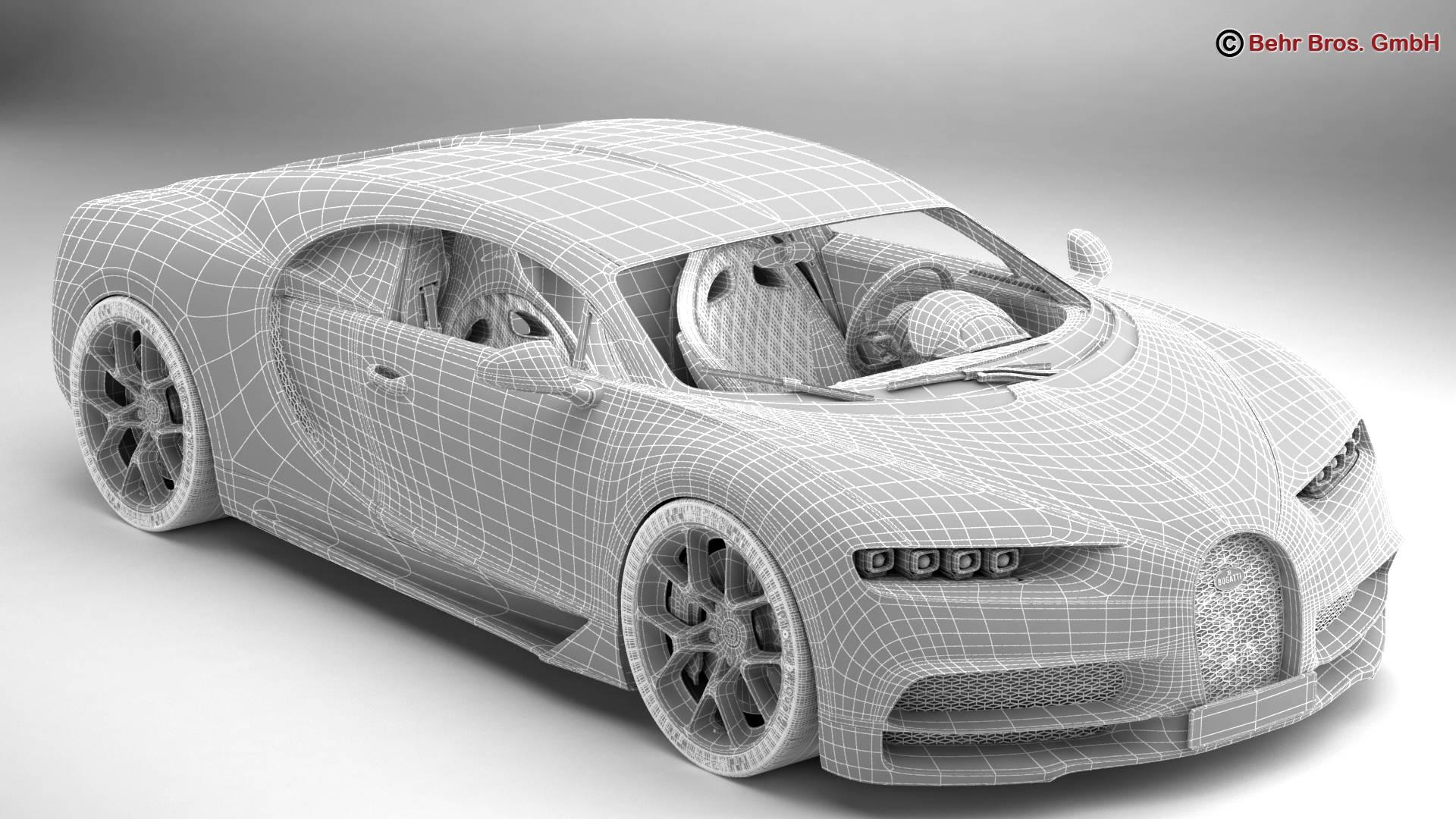bugatti chiron 2017 3d model 3ds max fbx c4d lwo ma mb obj 222121