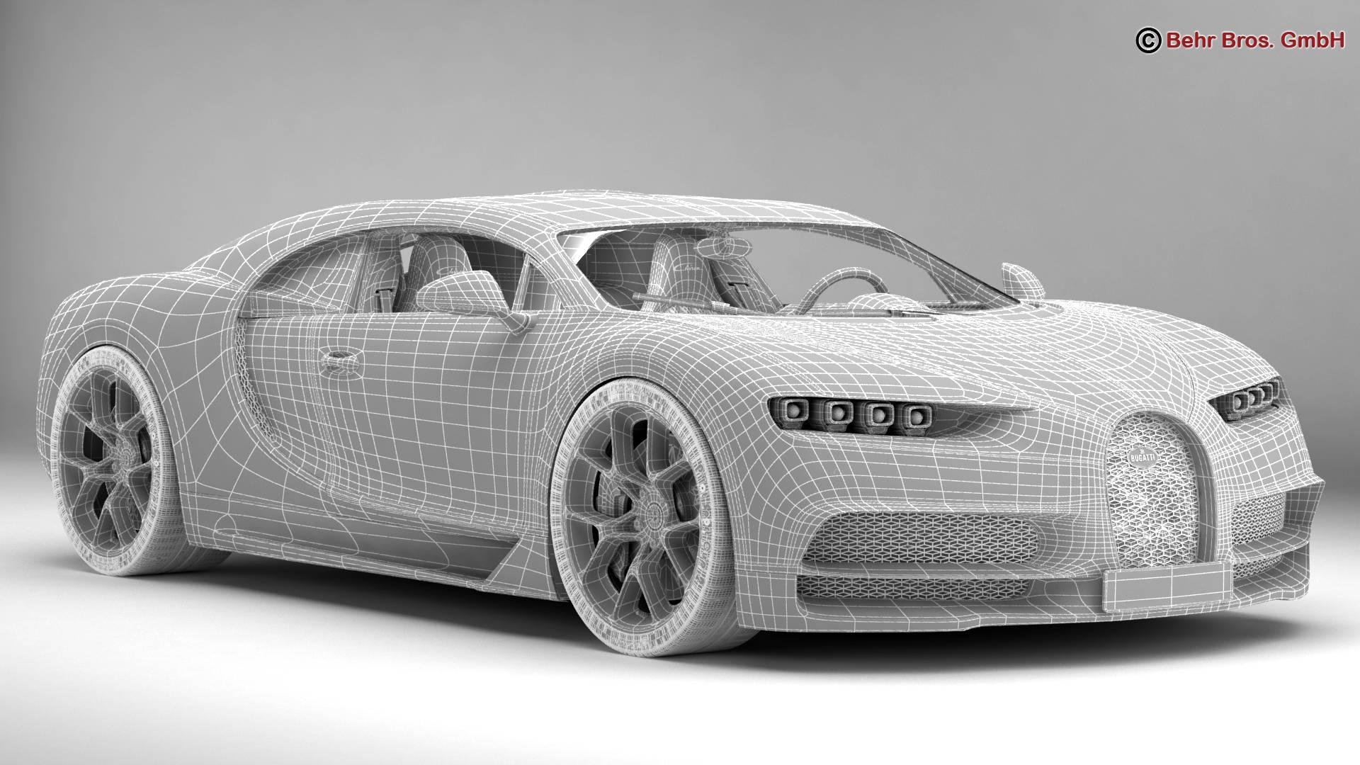 bugatti chiron 2017 3d model 3ds max fbx c4d lwo ma mb obj 222122
