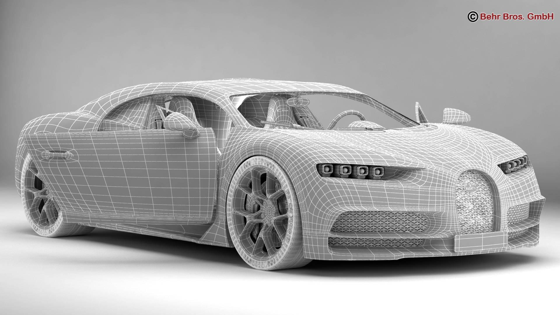 bugatti chiron 2017 3d model 3ds max fbx c4d lwo ma mb obj 222123