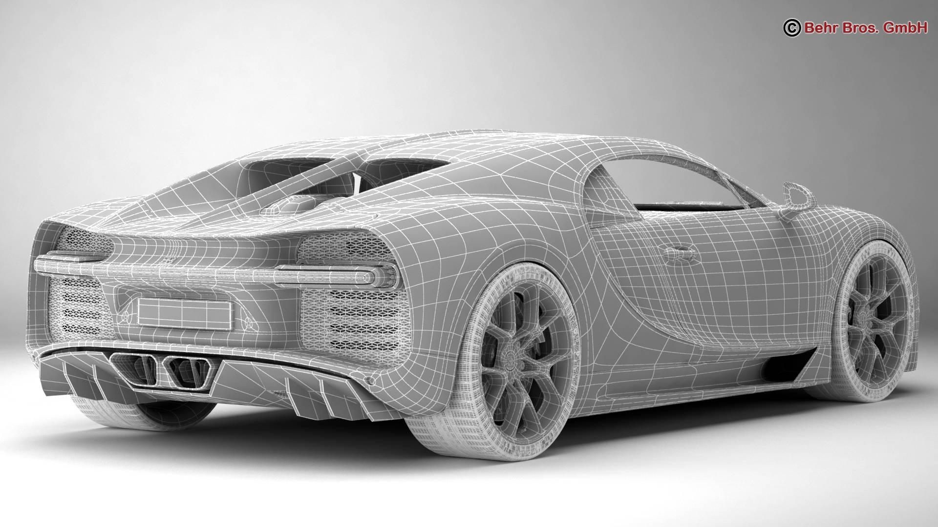 bugatti chiron 2017 3d model 3ds max fbx c4d lwo ma mb obj 222124