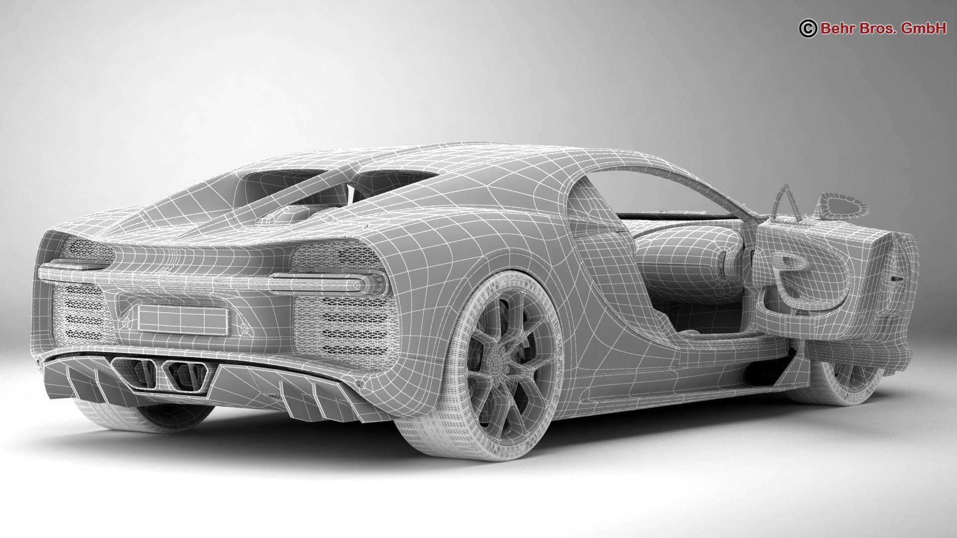 bugatti chiron 2017 3d model 3ds max fbx c4d lwo ma mb obj 222125