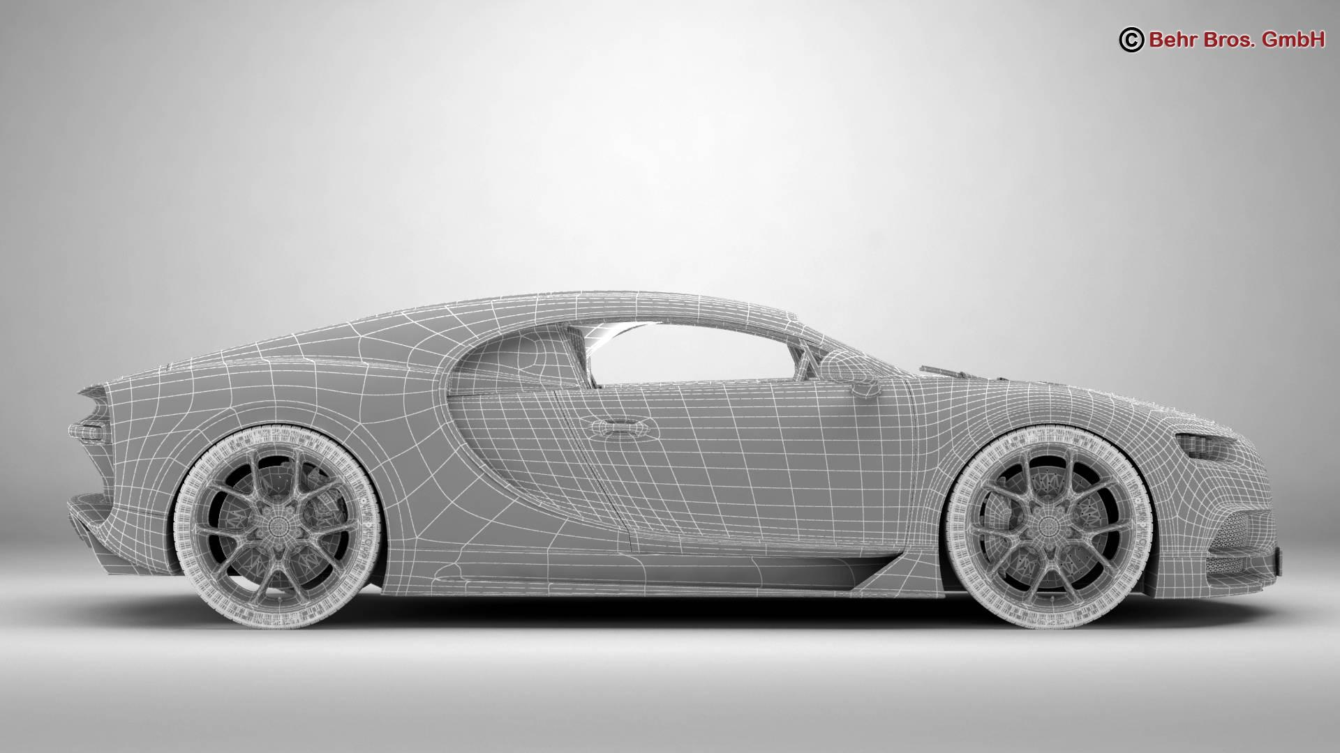bugatti chiron 2017 3d model 3ds max fbx c4d lwo ma mb obj 222126