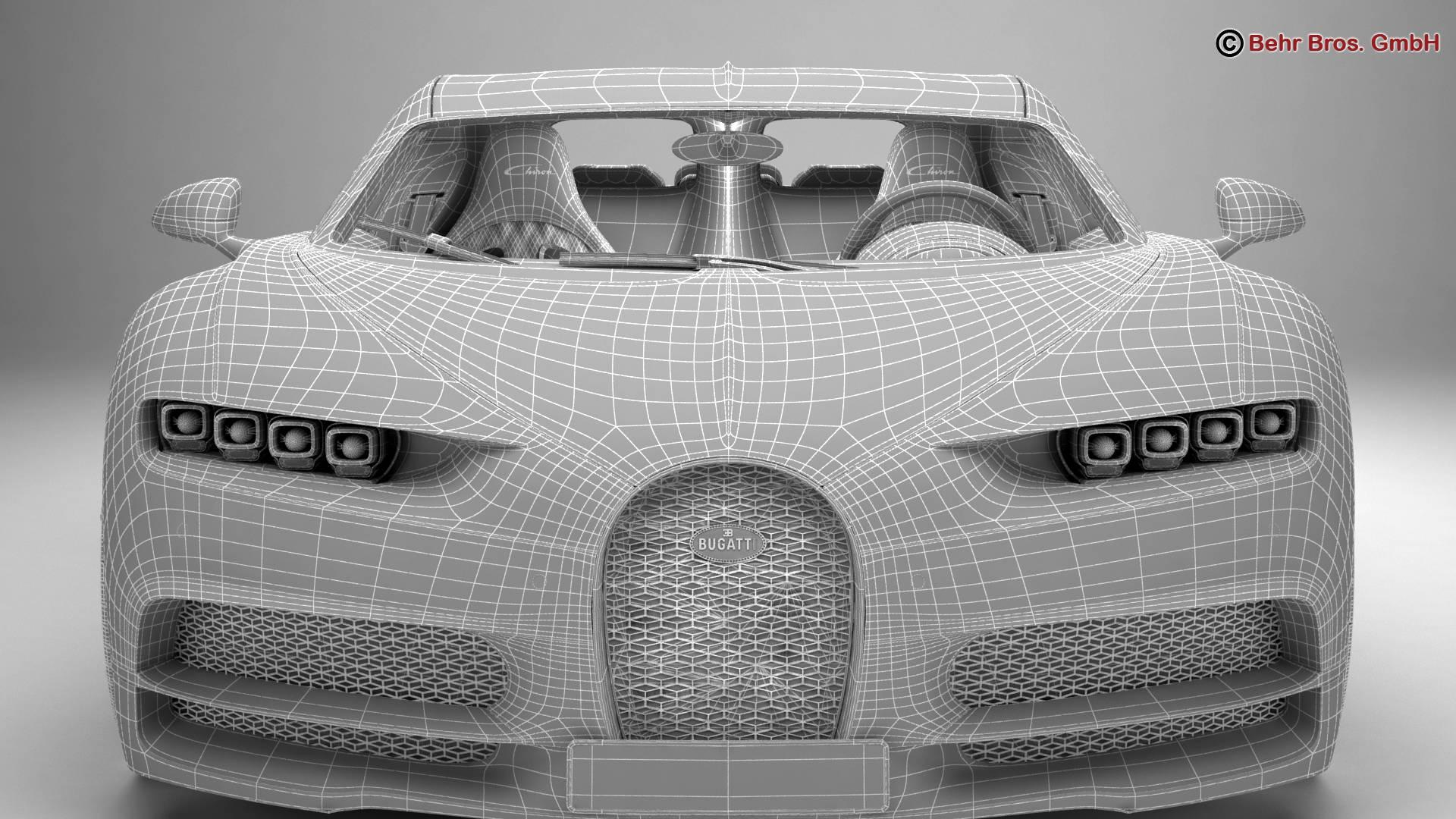 bugatti chiron 2017 3d model 3ds max fbx c4d lwo ma mb obj 222127