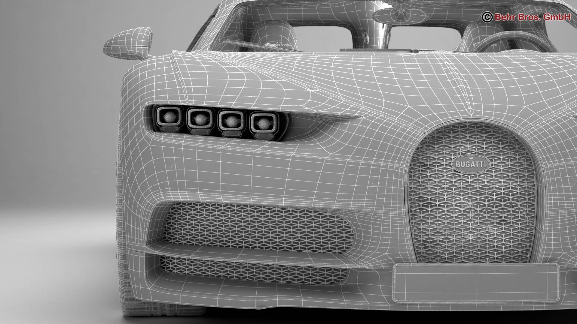 bugatti chiron 2017 3d model 3ds max fbx c4d lwo ma mb obj 222128