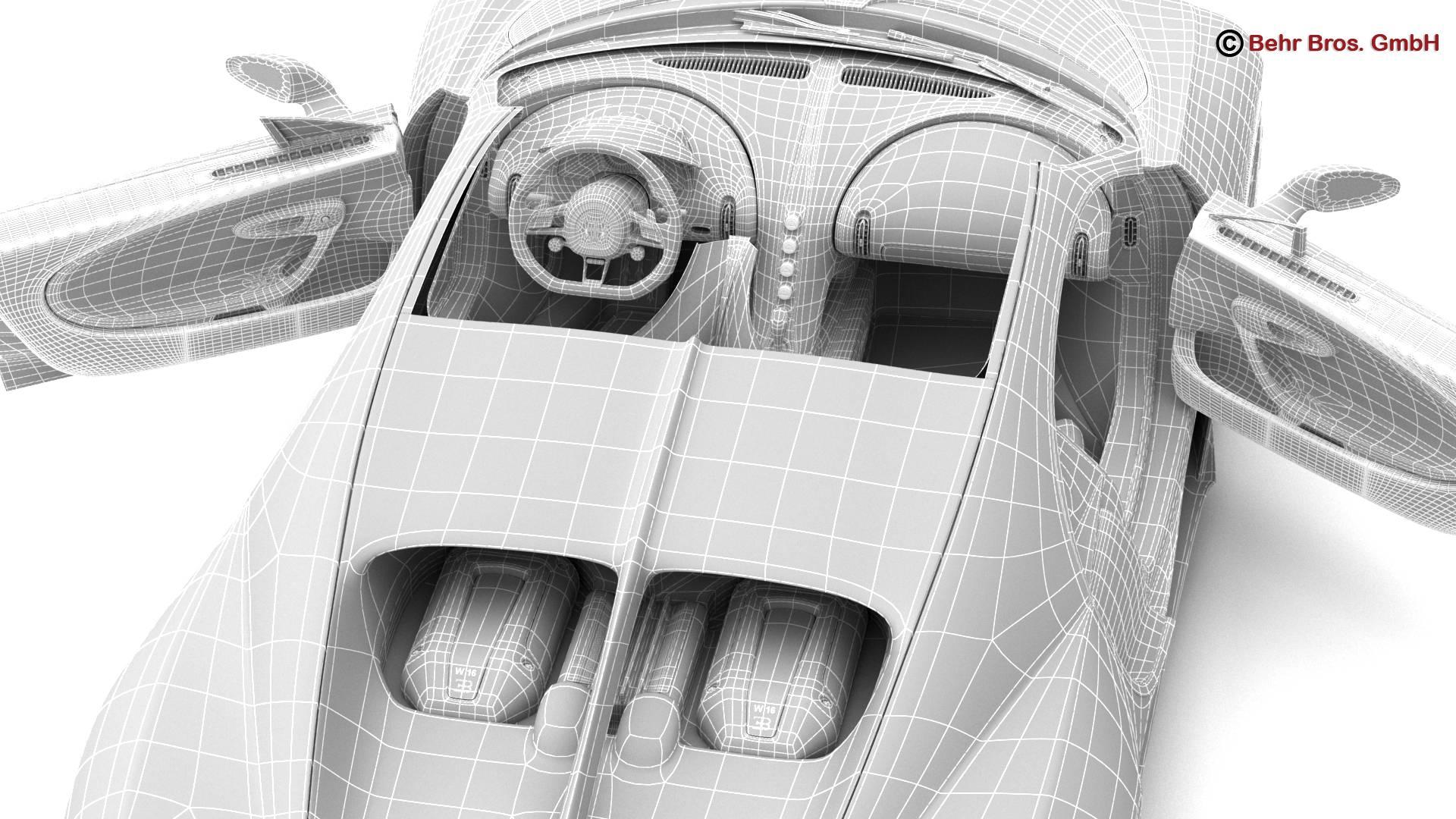 bugatti chiron 2017 3d model 3ds max fbx c4d lwo ma mb obj 222133