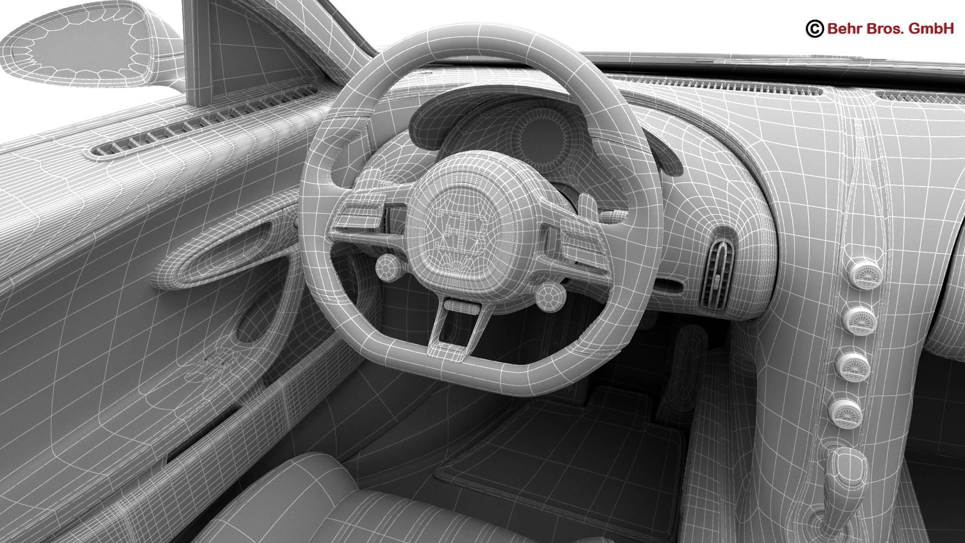 bugatti chiron 2017 3d model 3ds max fbx c4d lwo ma mb obj 222135
