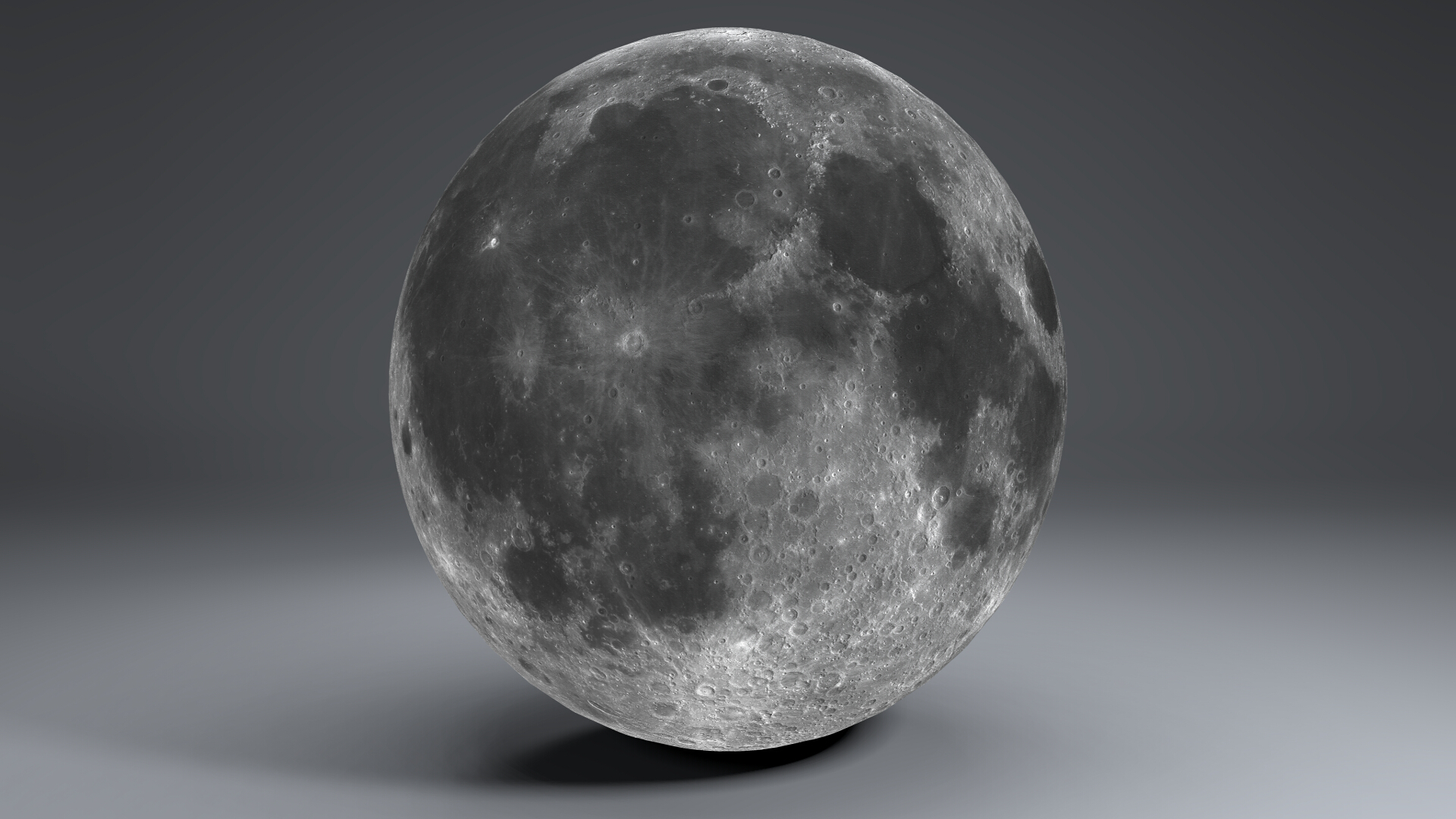 moon globe 23k 3d model 3ds fbx blend dae obj 222138