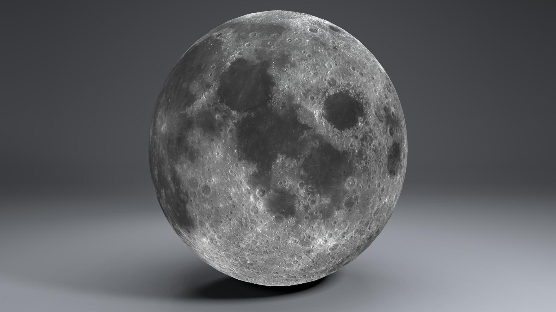 moon globe 23k 3d model 3ds fbx blend dae obj 222139