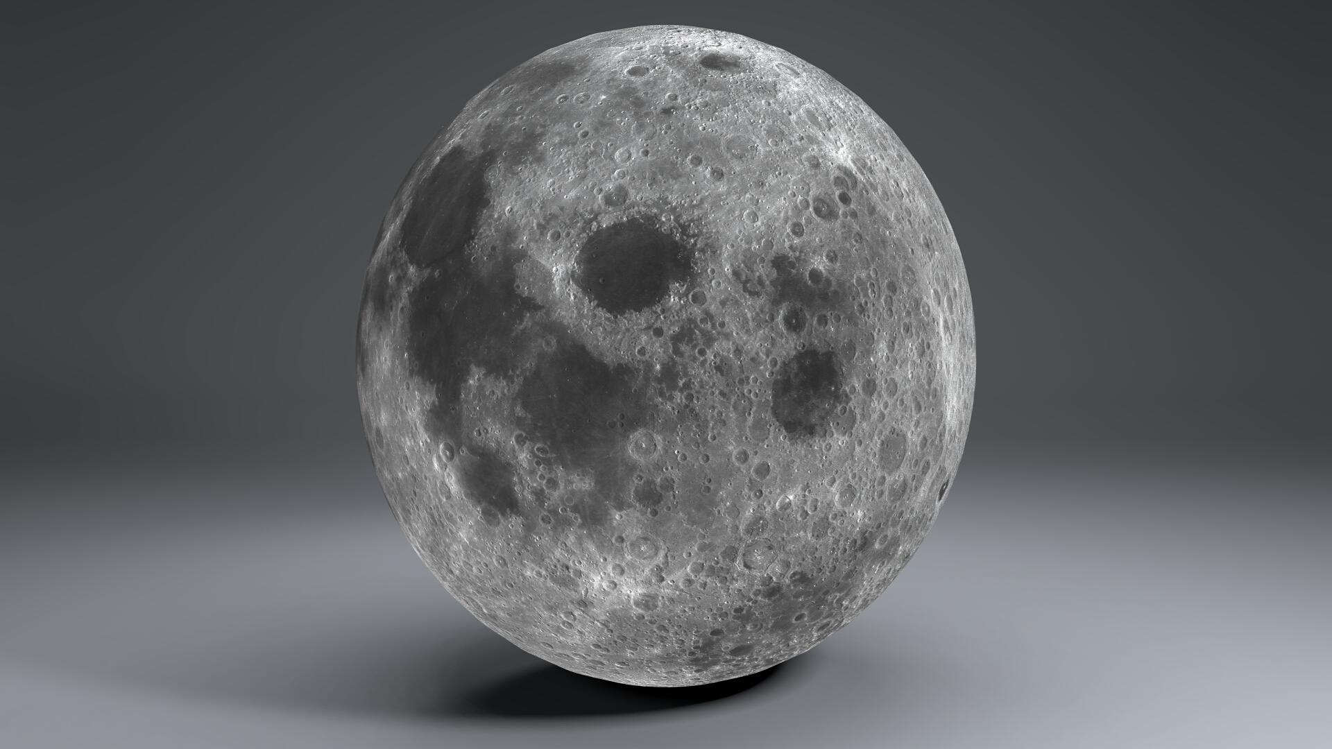 moon globe 23k 3d model 3ds fbx blend dae obj 222140