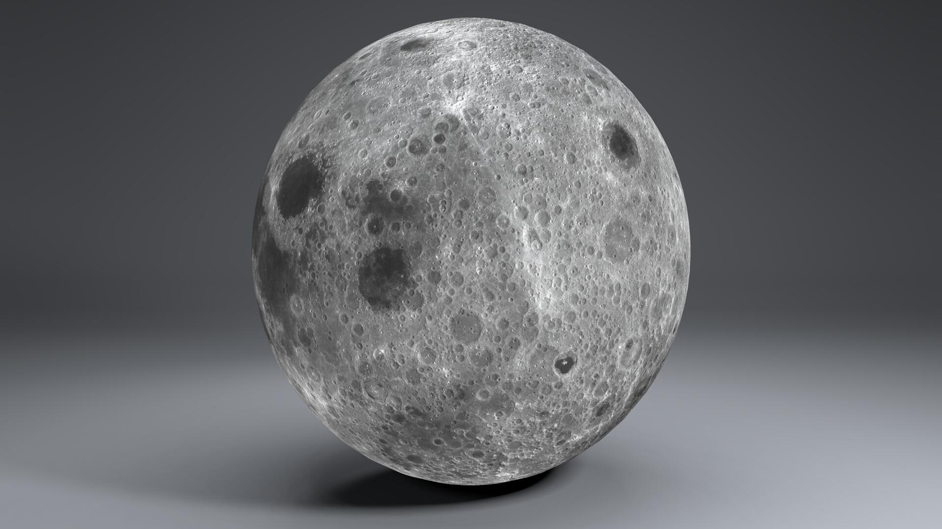 moon globe 23k 3d model 3ds fbx blend dae obj 222141