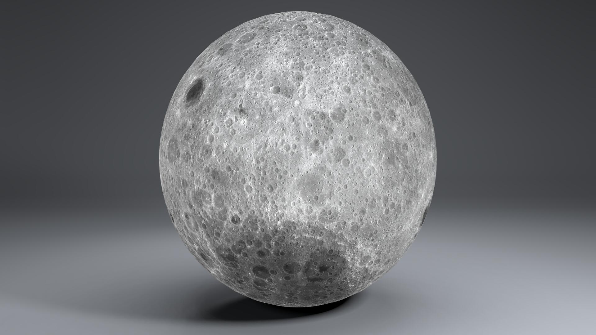 moon globe 23k 3d model 3ds fbx blend dae obj 222142