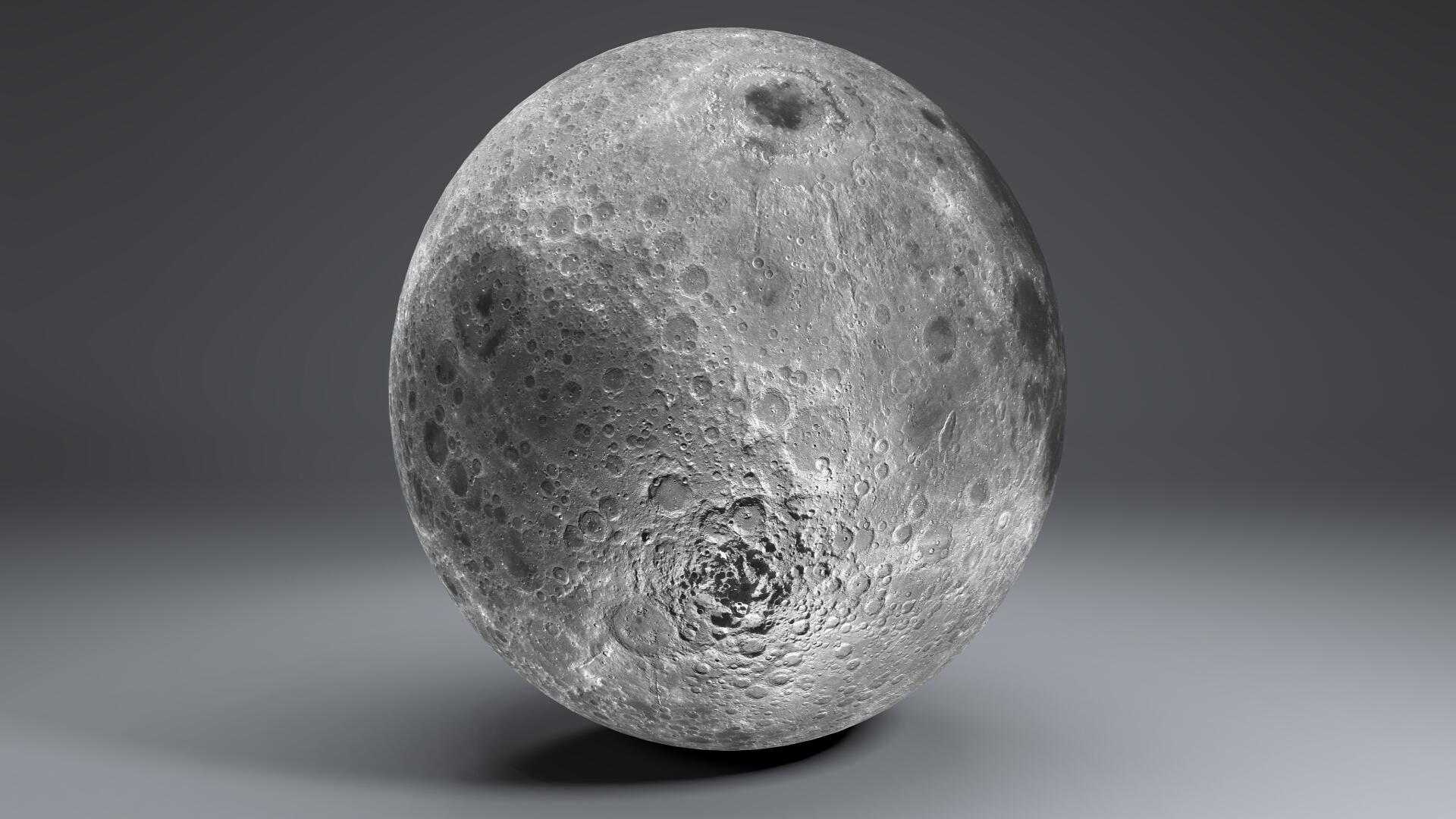 moon globe 23k 3d model 3ds fbx blend dae obj 222143