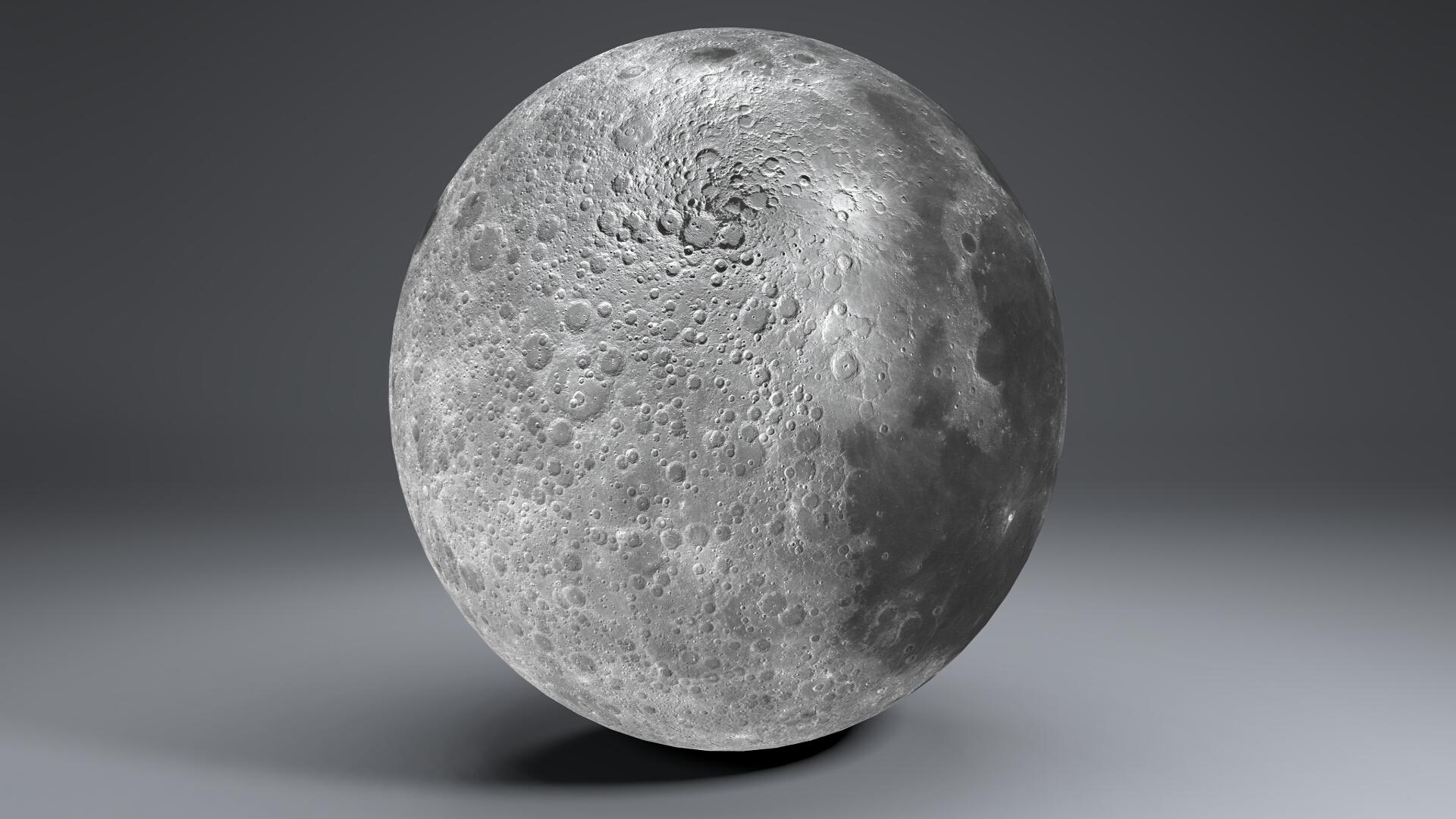 moon globe 23k 3d model 3ds fbx blend dae obj 222144