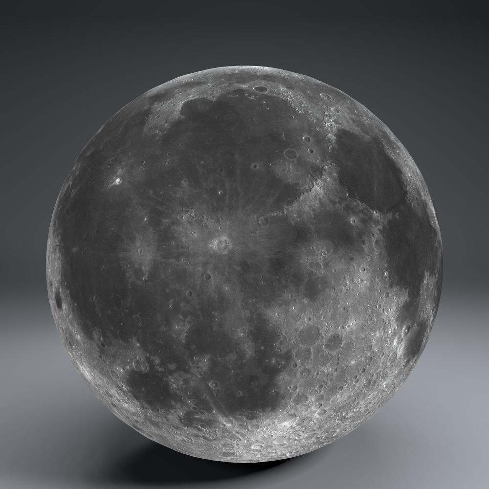 moon globe 23k 3d model 3ds fbx blend dae obj 222145