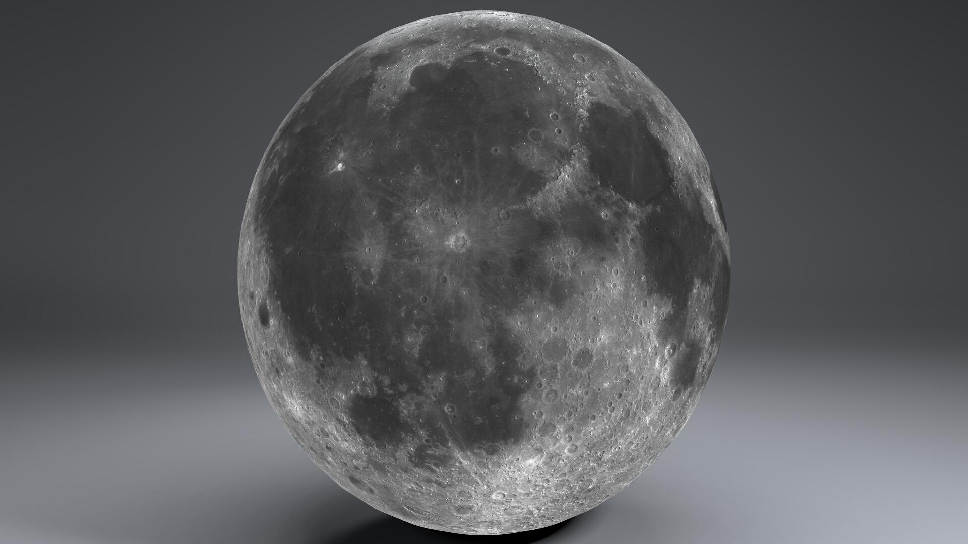 moon globe 23k 3d model 3ds fbx blend dae obj 222146