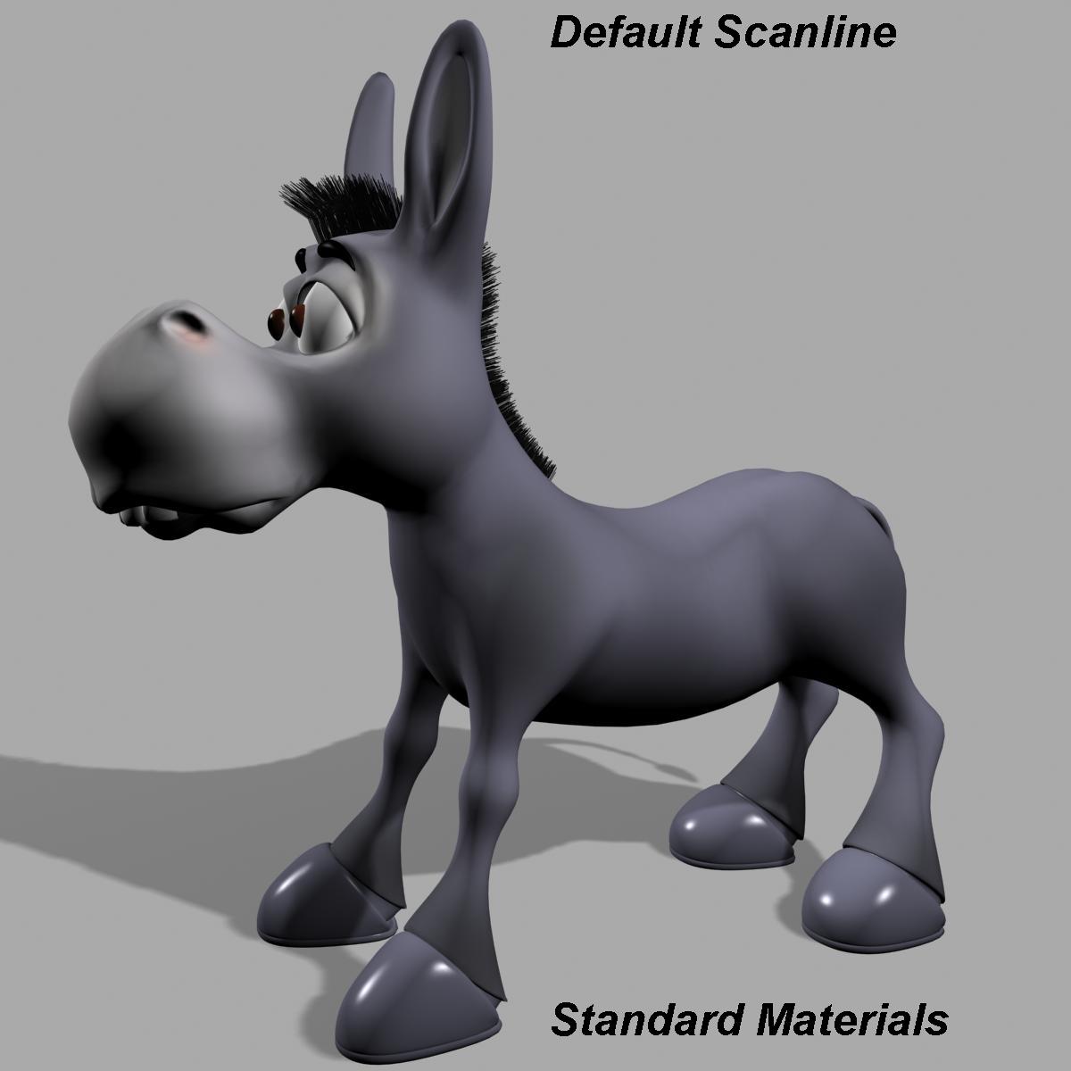 cartoon donkey rigged 3d model 3ds max fbx  obj 222153