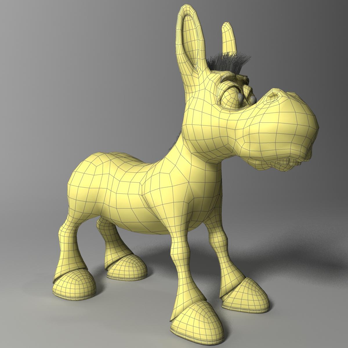 cartoon donkey rigged 3d model 3ds max fbx  obj 222155