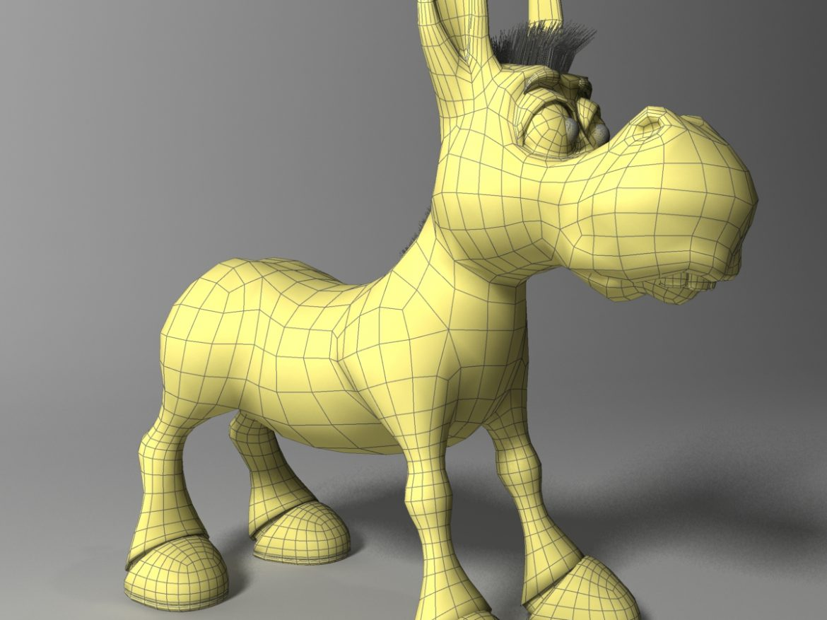 cartoon donkey Rigged ( 676.08KB jpg by supercigale )