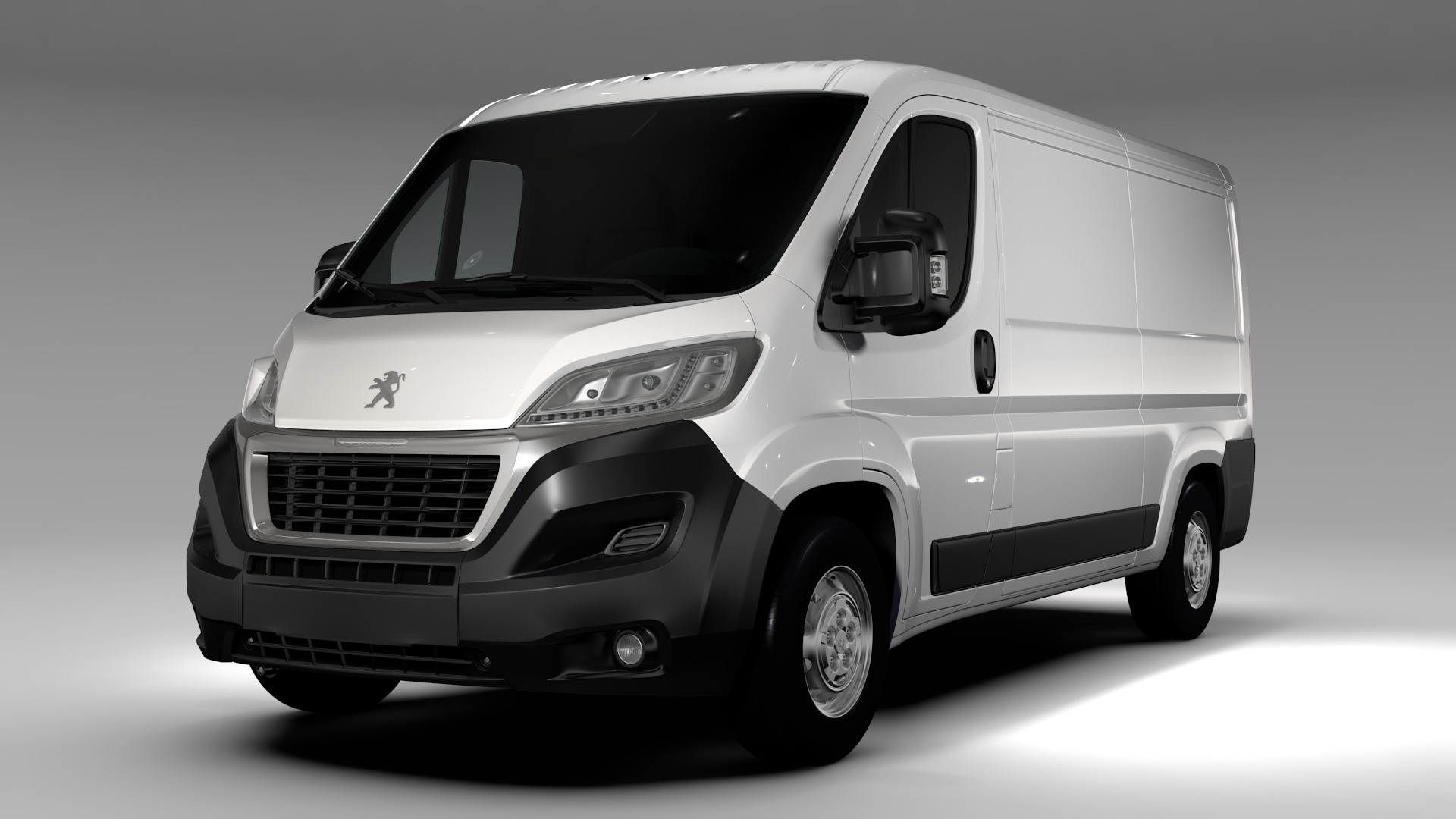 peugeot boxer van l2h1 2017 3d model. Black Bedroom Furniture Sets. Home Design Ideas