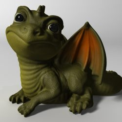 Baby Dragon 3d model max fbx  obj