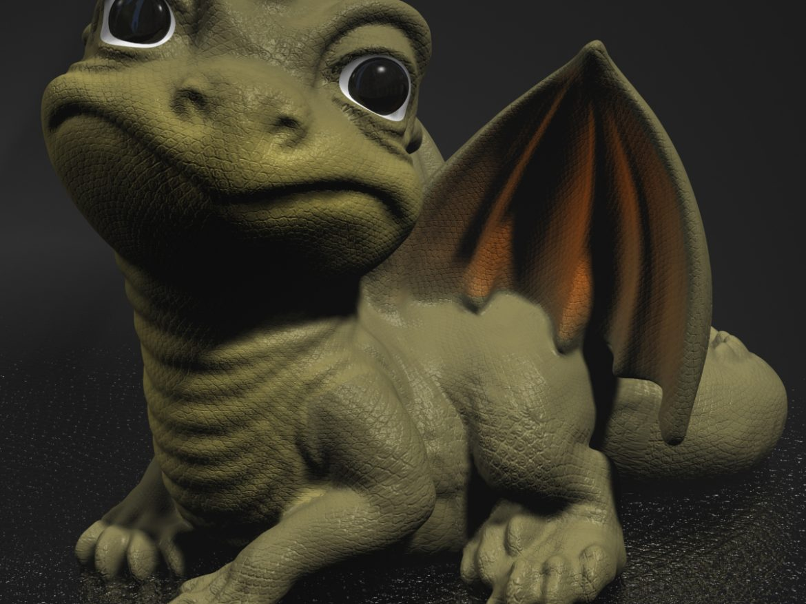 Baby Dragon ( 1017KB jpg by supercigale )