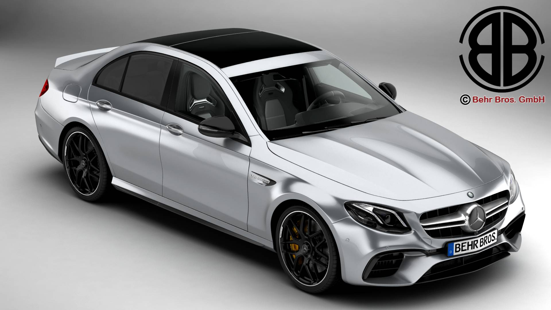 mercedes amg e63 s 2018 3d model. Black Bedroom Furniture Sets. Home Design Ideas