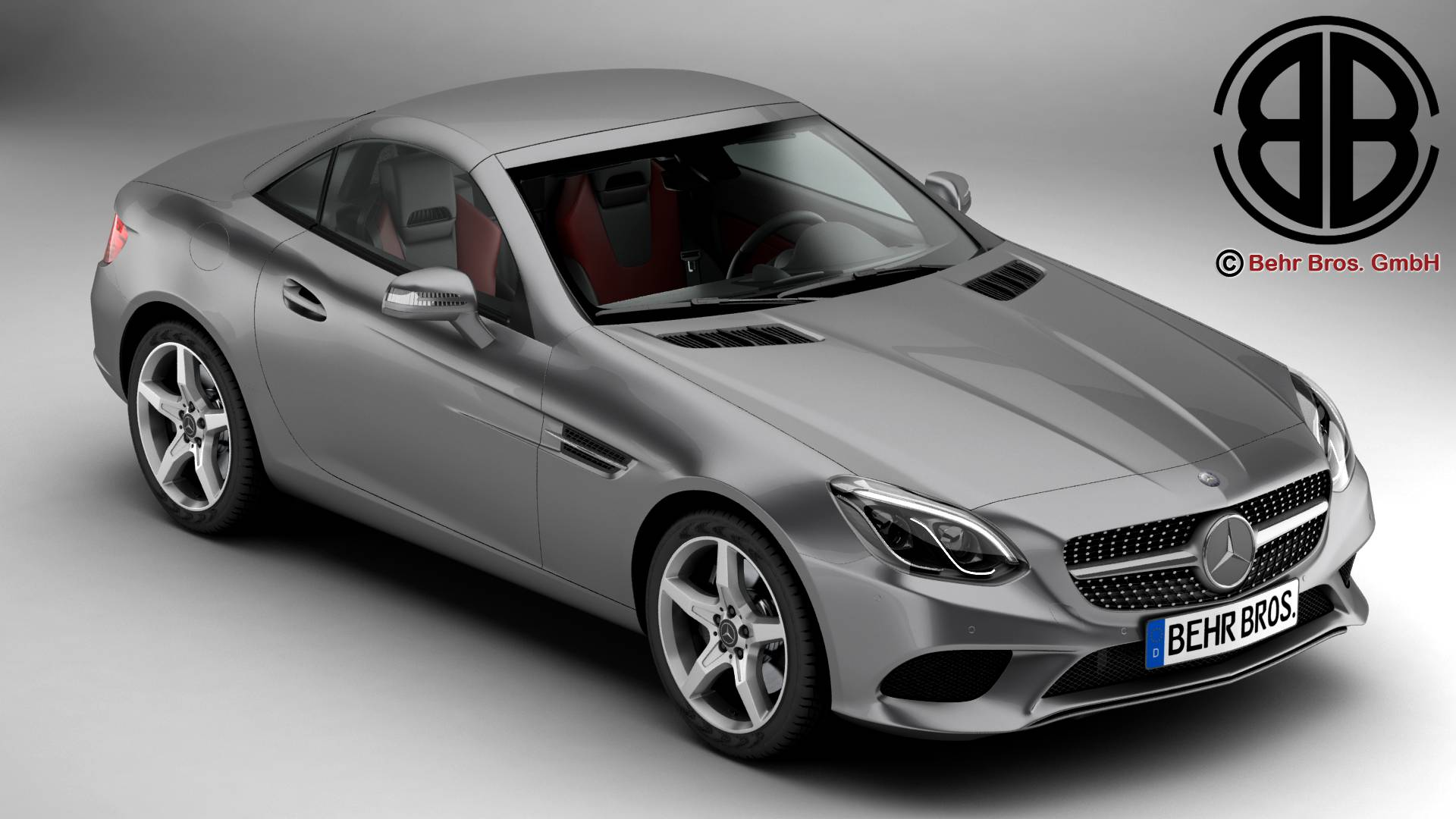 mercedes slc 2017 3d model 3ds max fbx c4d lwo ma mb obj 222325