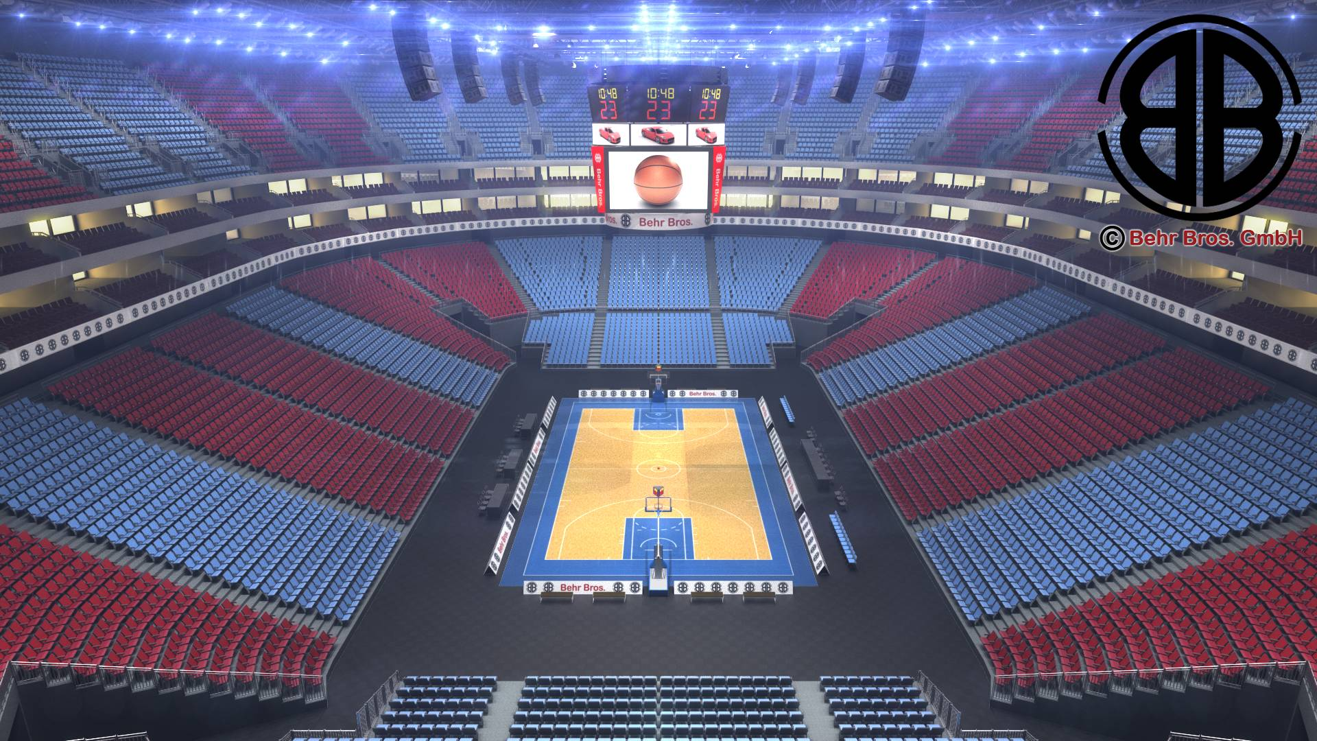 basketball arena v2 3d model 3ds max fbx c4d lwo ma mb obj 222363
