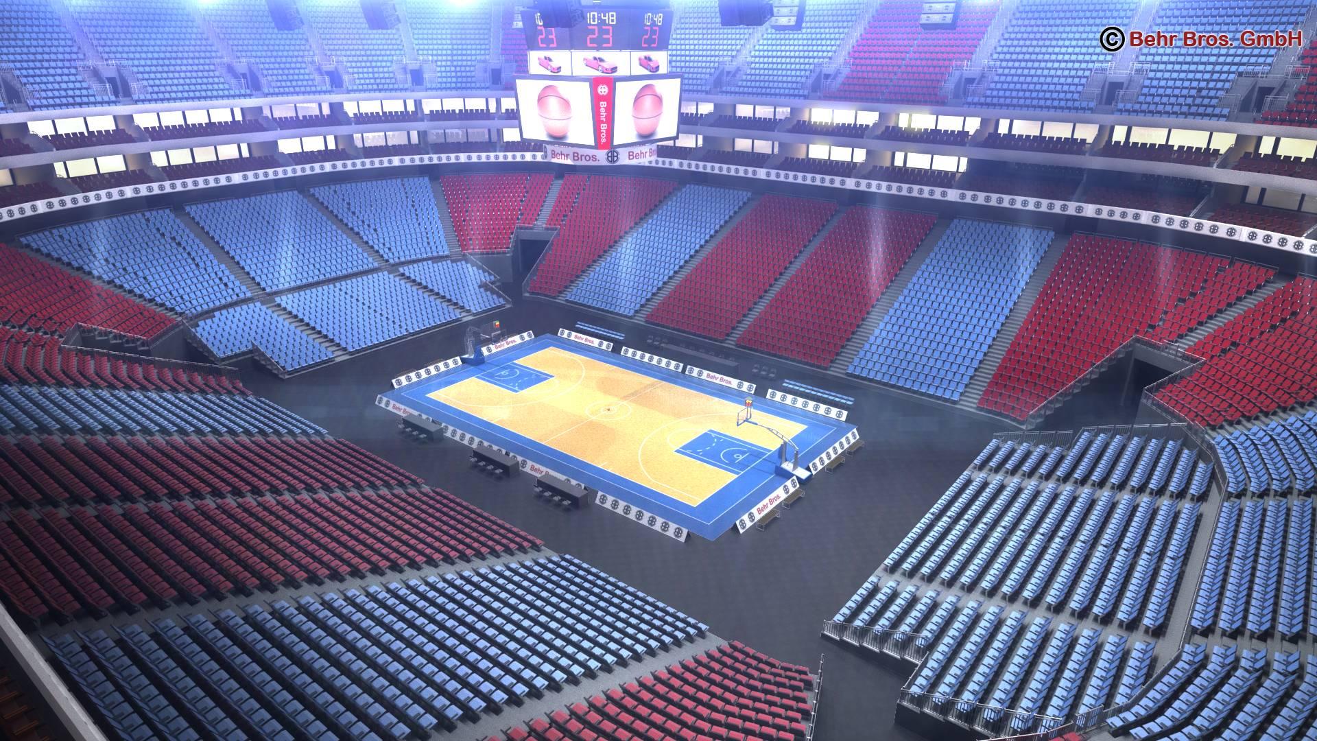 košarkaška arena v2 3d model 3ds max fbx c4d lwo ma mb obj 222364