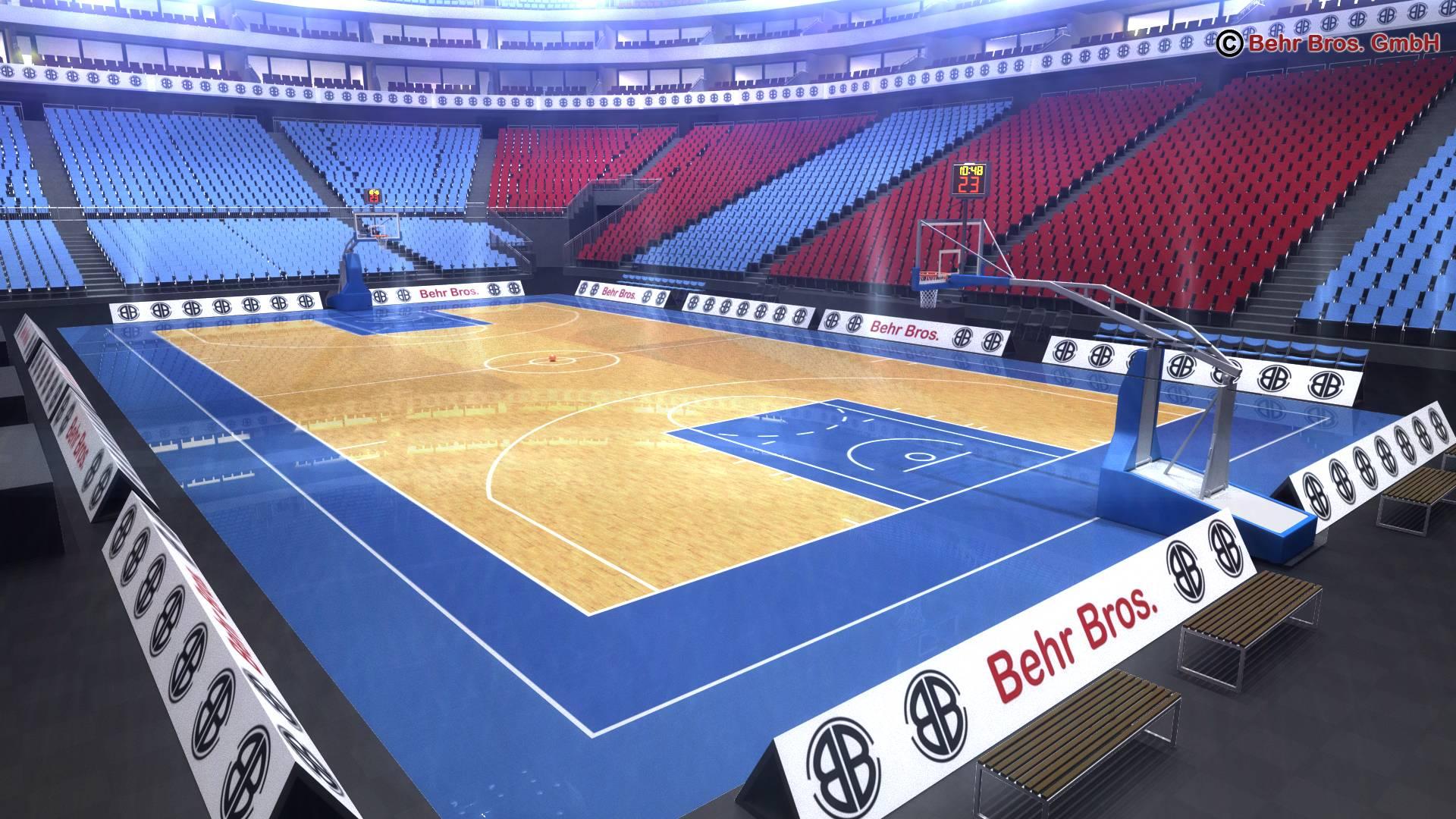 košarkaška arena v2 3d model 3ds max fbx c4d lwo ma mb obj 222365