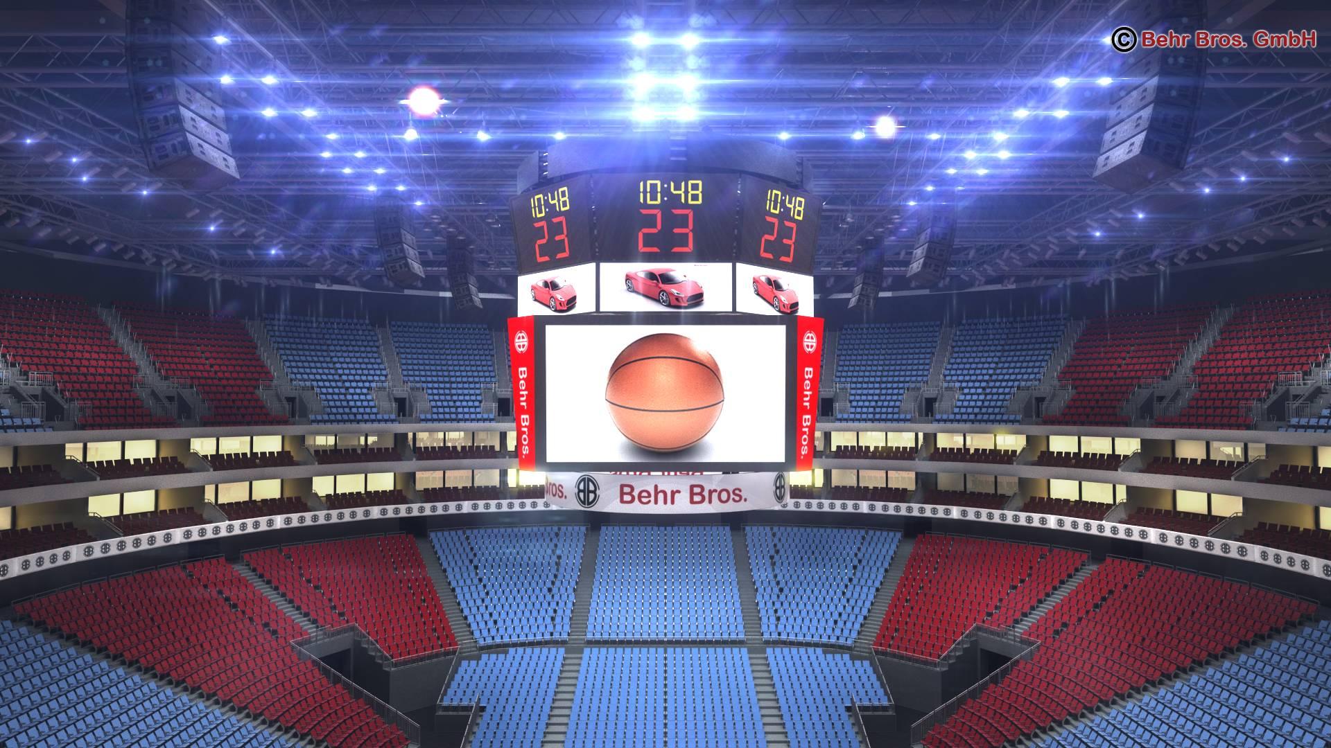 košarkaška arena v2 3d model 3ds max fbx c4d lwo ma mb obj 222366