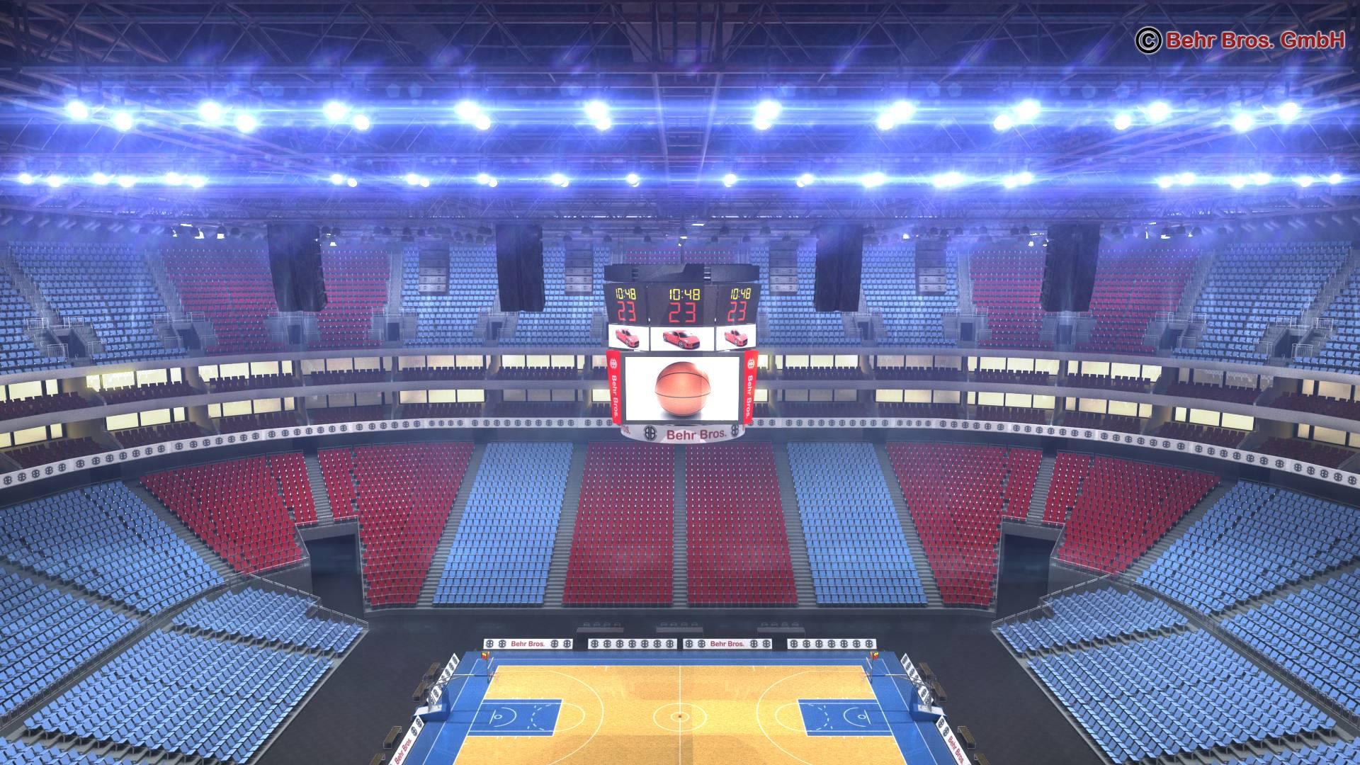 košarkaška arena v2 3d model 3ds max fbx c4d lwo ma mb obj 222367