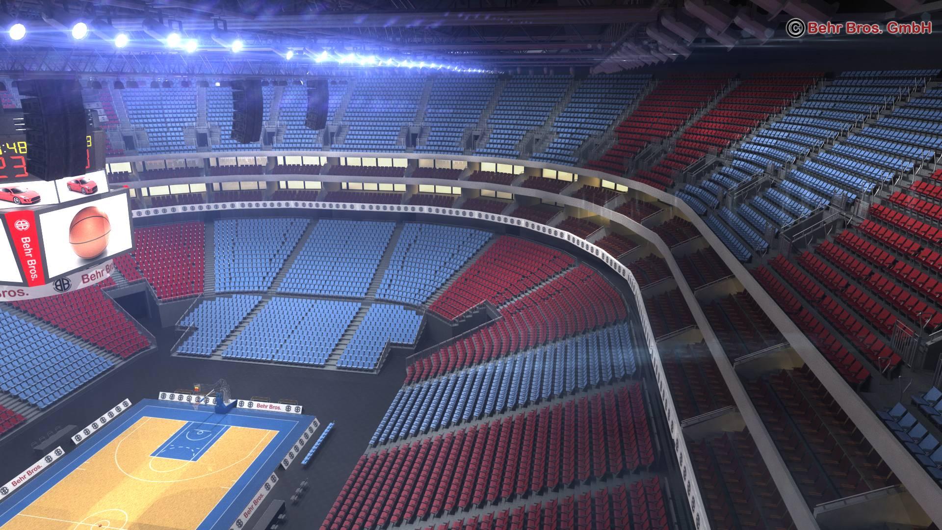 košarkaška arena v2 3d model 3ds max fbx c4d lwo ma mb obj 222368
