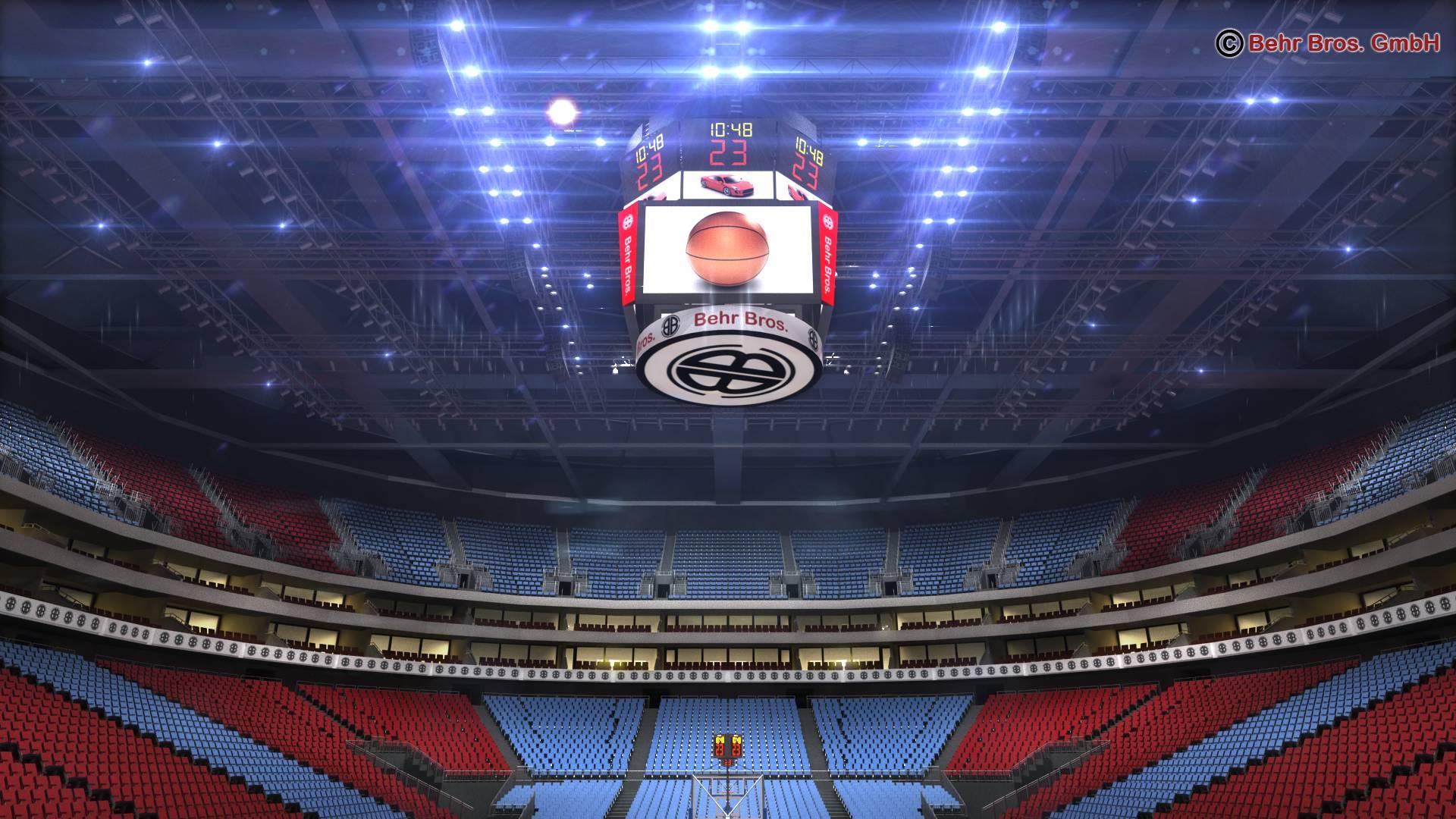 košarkaška arena v2 3d model 3ds max fbx c4d lwo ma mb obj 222370