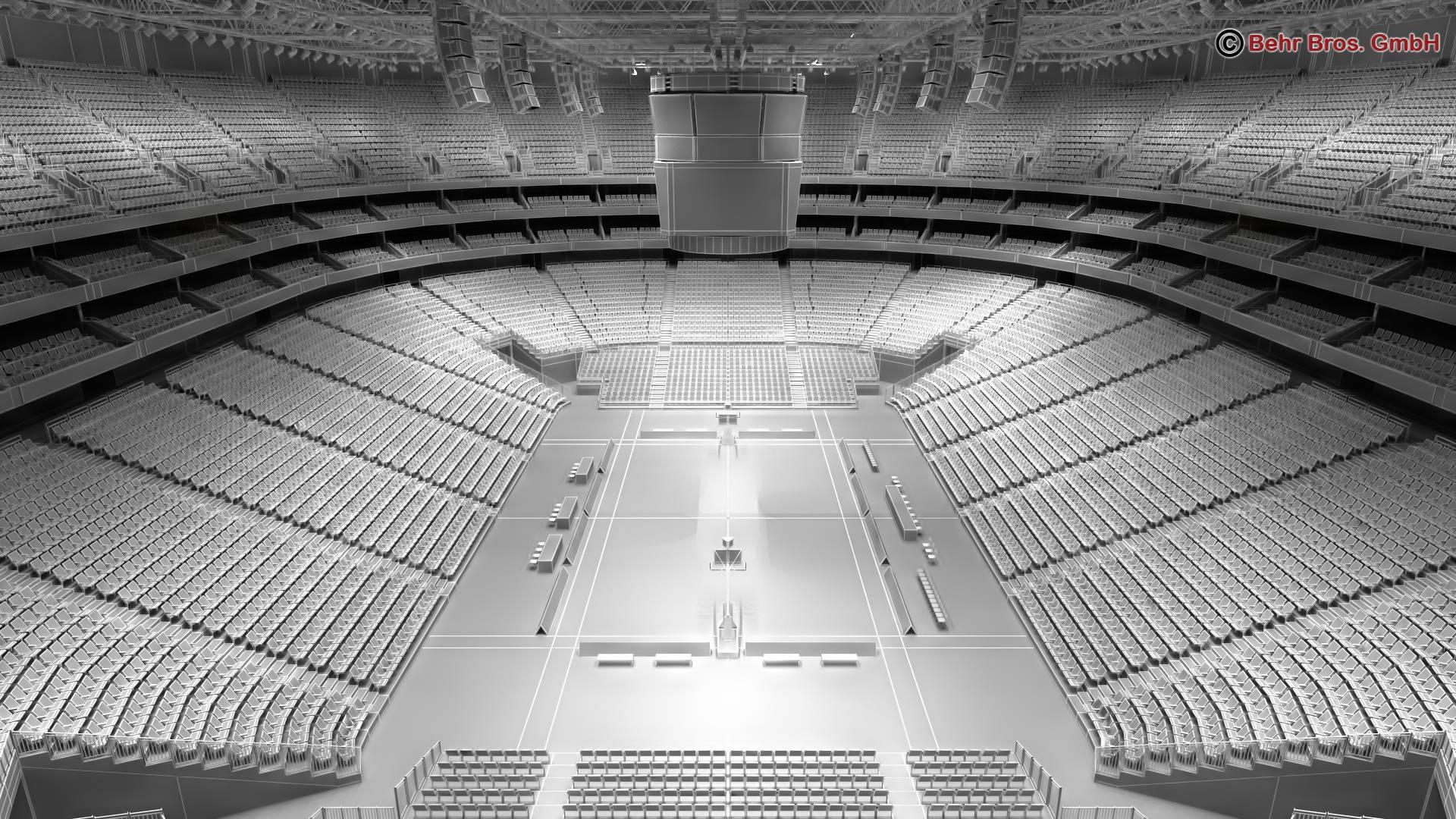 košarkaška arena v2 3d model 3ds max fbx c4d lwo ma mb obj 222374