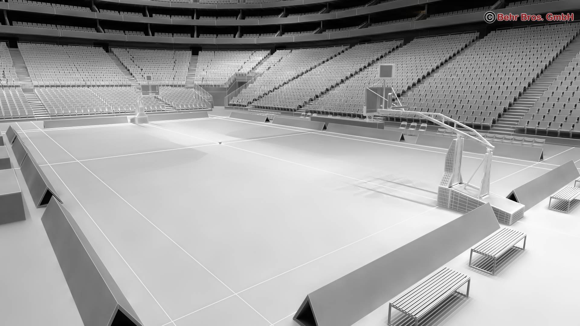 košarkaška arena v2 3d model 3ds max fbx c4d lwo ma mb obj 222376