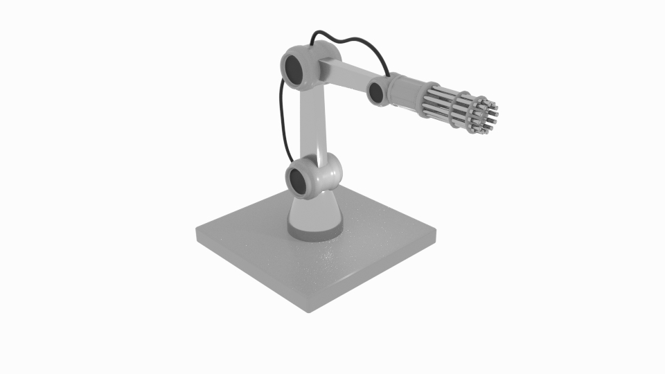 gun robot arm 3d model blend 222408