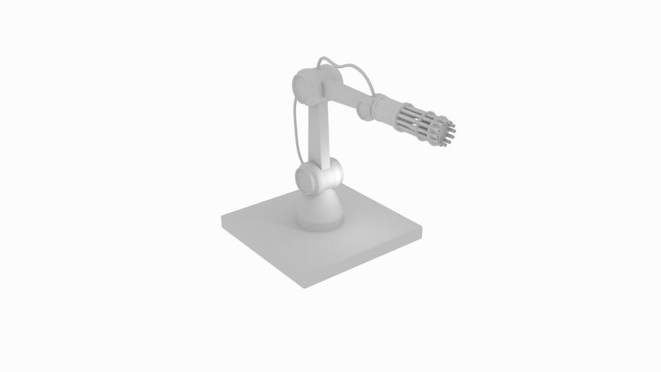 gun robot arm 3d model blend 222412