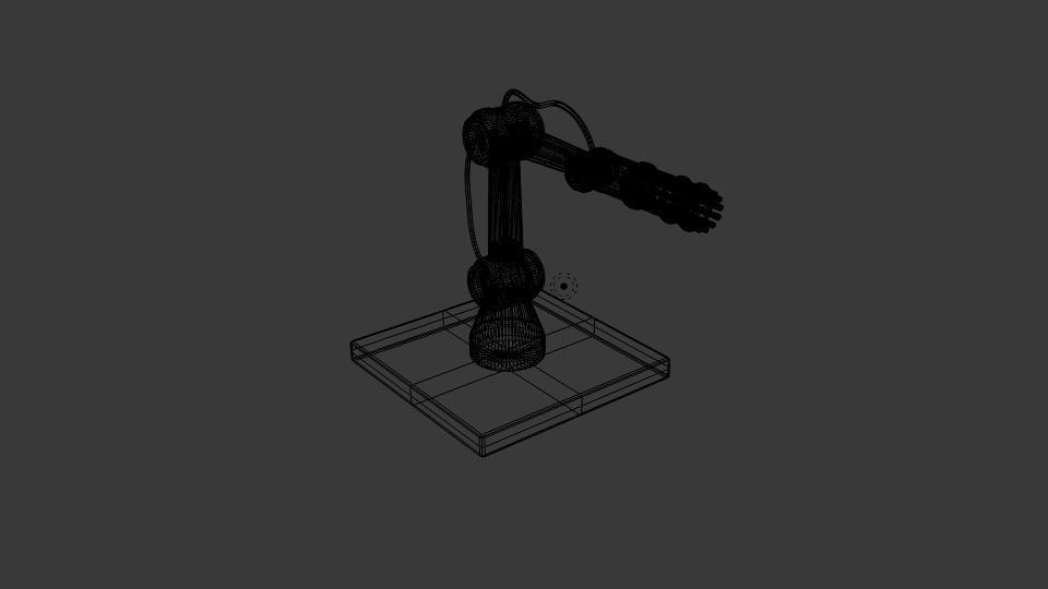 gun robot arm 3d model blend 222413