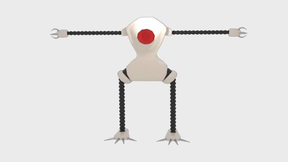 Mae model 3d clawrobot yn cyfuno 222436