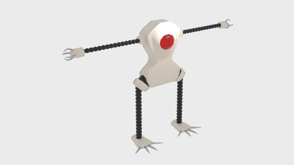 Mae model 3d clawrobot yn cyfuno 222438