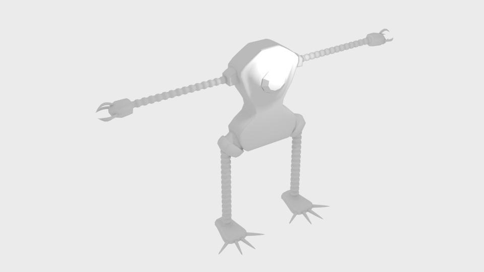Mae model 3d clawrobot yn cyfuno 222440