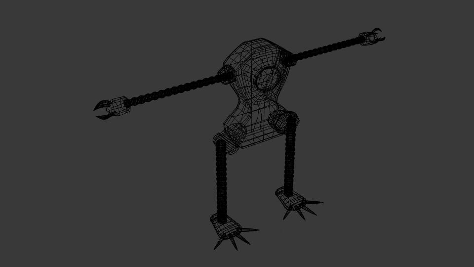 Mae model 3d clawrobot yn cyfuno 222441